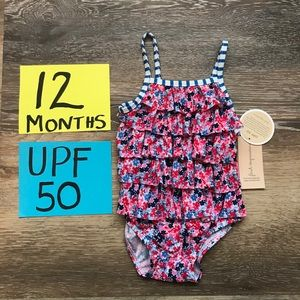 NWT 12 Months One piece bathing suit UPF 50